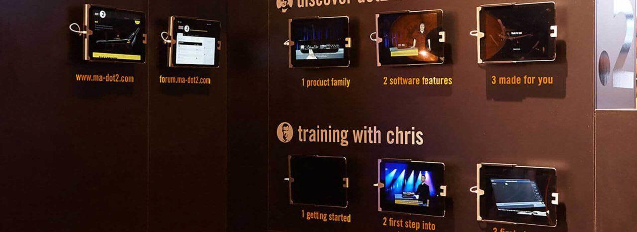 Multimedia Tabletwände mieten